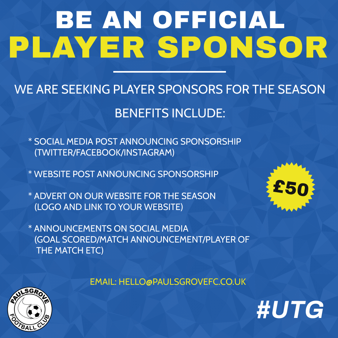 Player Sponsors Required